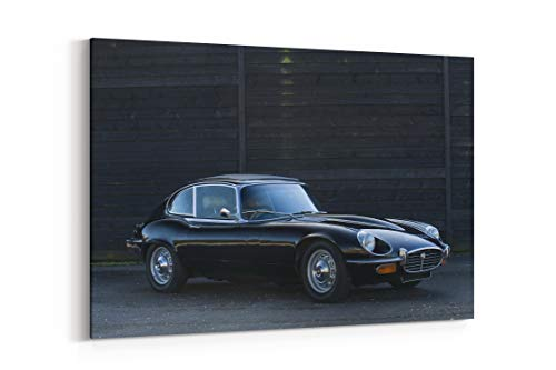Jaguar E Type V12 Fixed Head Coupe Series Iii Cars Classic - Canvas Wall Art Gallery Wrapped 40