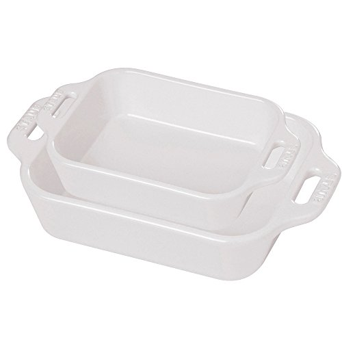 White Bakeware (Staub 40508-626 Baking-Dishes, White)