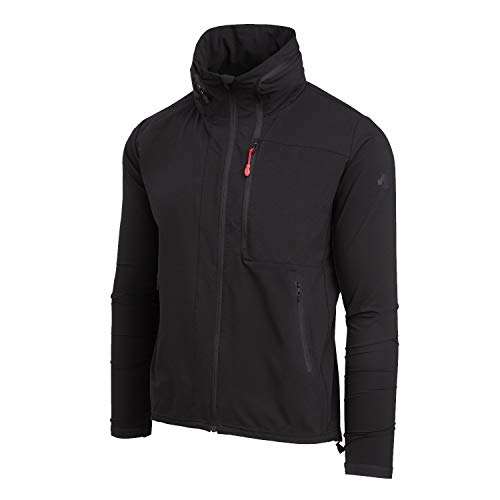 Descente Men's x DSPTCH Packable Jacket for Hiking and Traveling Black