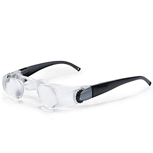 Glasses-Type Head-Mounted Hyperopia (Myopia) Magnifying Glass HD Double-Screw Focusing Magnifier (Color : Myopia Type) (Color : Hyperopia Type) (Focusing Magnifier)