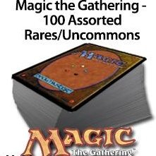 Magic: the Gathering - 100 Rare cards (contains common, uncommon and rear cards. (Total 100 cards))