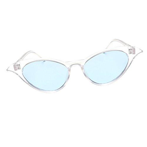 transparente de borgoña azul Marco Sol de Ojos Homyl Deporte Colorida Gato marco clara de Gafa Viaje Lente Metal Unisex Lente para Ciclismo UV400 wHqTvB