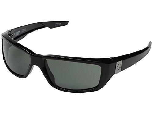 Spy Optic Dirty Mo Sunglasses Gloss Black with Grey Green Polarized Lens + Spy - Polarized Sunglasses Mo Dirty