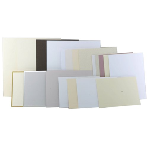 JAM Paper Flat Note Cards - 4 1/4'' x 5 1/2'' - Green - 100/pack