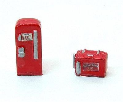 - Custom Soda Machine Set -- RC Cola 1 Upright, 1 Chest Style