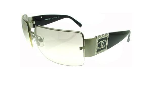 a857b7d11fa Amazon.com  Chanel 4095B Sunglasses Sun Glasses MIRRORLIGHTGRADIENTGRAY Lens  BLACK Frame  Clothing