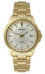Seiko-3-Hand-with-Date-Gold-tone-Mens-watch-SGEF56P1