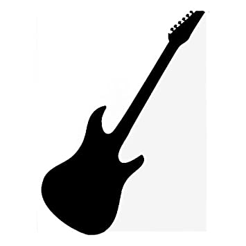 Amazoncom Custom Stratocaster Guitar Silhouette Vinyl Decal - Custom vinyl decals for guitars