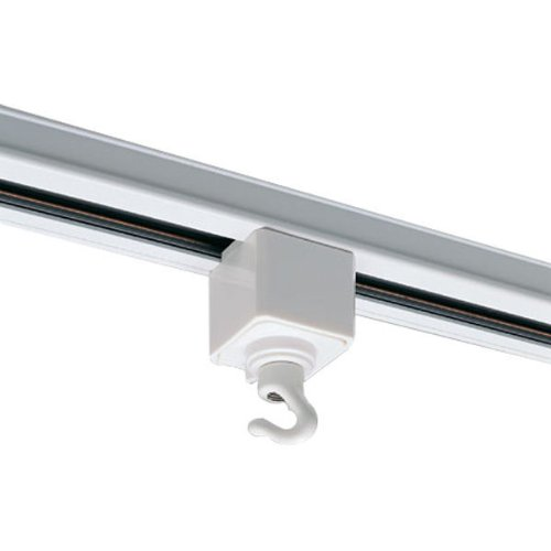 Nora Track Light NT-308W - White - Utility Hook - Single or Dual Circuit - Compatible with Halo Track