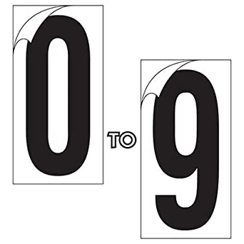 97422f00e26f Amazon.com: Number Set 5-1/4 White 0-96
