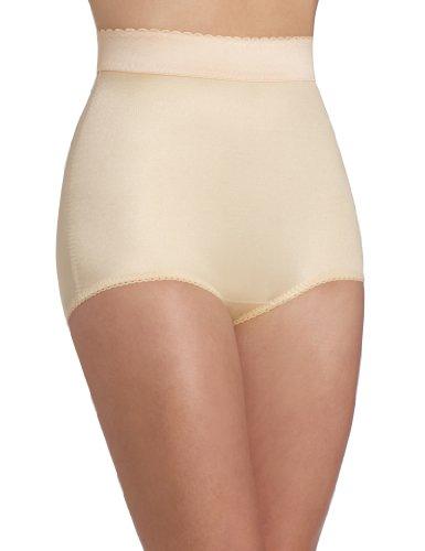 Rago Women's Plus-Size Hi Waist Panty Brief, Beige, 3X-Large (36)