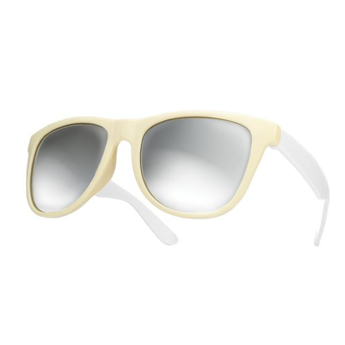 de mirror sol white Gafas cristales Morefaz duo espejo de Unisex Wayfarer estilo xq0SS6Ewz1