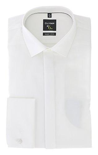 OLYMP No. Six super slim Hemd Langarm Umschlagmanschette beige