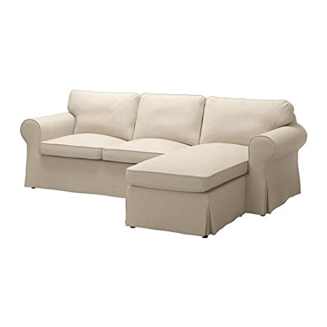 Ikea Cover for 3-seat sectional, Nordvalla dark beige 2028.52323.1422