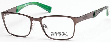 Eyeglasses Kenneth Cole Reaction KC 769 KC0769 049 matte dark brown by Kenneth Cole REACTION