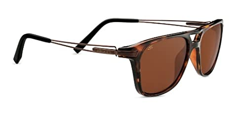 Serengeti Flex Empoli Sunglasses, Polarized Drivers, Shiny Dark Tortoise