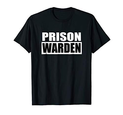 Prison Warden T-shirt for Halloween Prison Costume