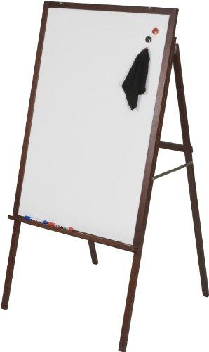 (Best-Rite Oak Presentation Dry Erase Easel, Mahogany Wood Frame (745M))