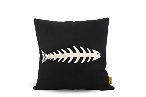 Raydeshop Throw Pillow Covers Cushions Covers Fish Bone Embroidered Cover Pillowcase Pillowslip for Home Single One 18