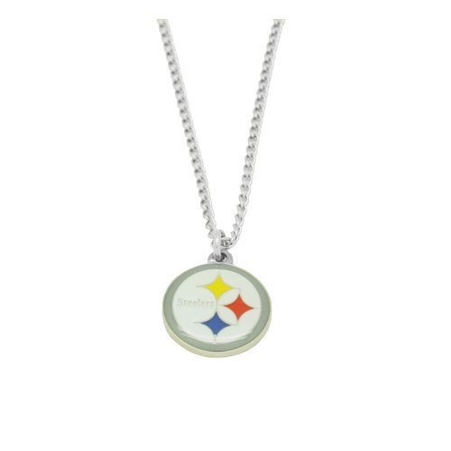 (aminco NFL Pittsburgh Steelers Team Logo Necklace)