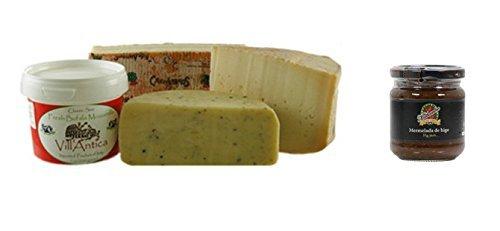 Italian Cheese Sampler, Connaisseur - 1.9 lbs + Fig Jam Mathambre, 220gr