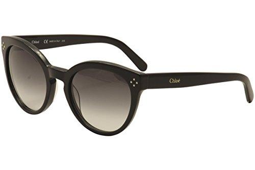 Chloe Women's Boxwood Round Black - Black Sunglasses Chloe