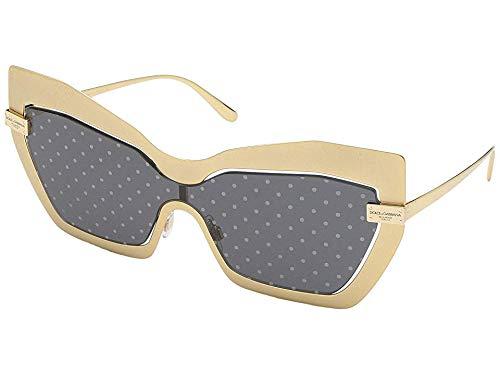 Dolce & Gabbana Women's DG2224 Sand Gold/Dark Grey Gold One -