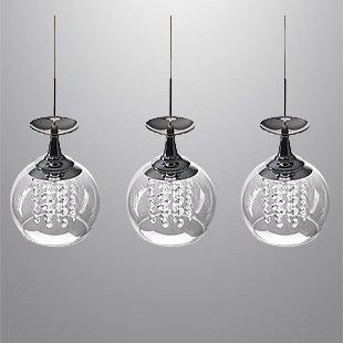 Vintage moderni pendenti di vetro ciondolo illuminazione luce per l ...