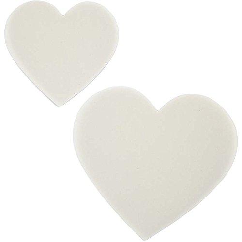 23843create Craft–Carta trasparente cuore 8.5cm + 6cm 50Asst Star School Supplies