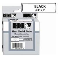 Heat Shrink Tube Label, Black/White