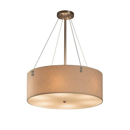 Lighting Pendant Design (Justice Design Group Lighting FAB-9532-CREM-NCKL-F1 Textile Finials 24
