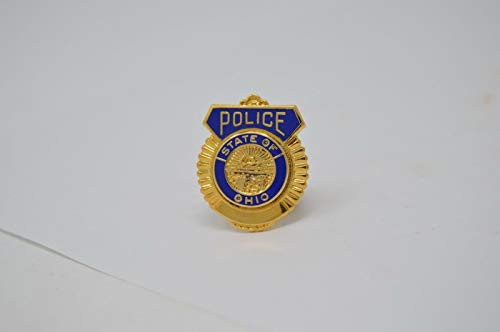 (State Of Ohio Police GOLD TONE TIE TAC BAR PIN)