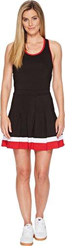 Tennis Nike Dress (Fila Women's Heritage Racerback Dress, Black, Crimson, White, M)