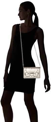 Borsa Lamb Bag Silver Love Moschino Shoulder Peltro Pu Embossed Women's 4wInCECxqg