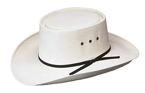 Western Paso Fino San Jose Gambler Hat, Straw White, Made in Mexico (7-1/2(60)