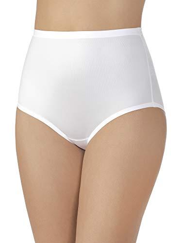 (Vanity Fair Women's Plus Size Body Caress Brief Panty 13138, Star White, 2X-Large/9)