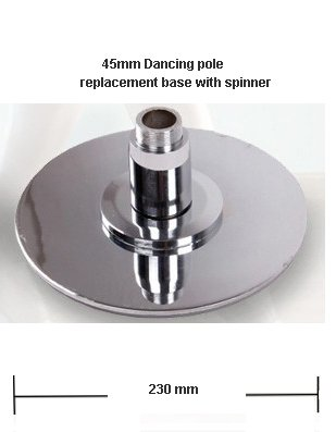 MEGA DANCING POLE 45MM REPLACEMENT PART BOTTOM BASE W/SPINNER by MegaBrand