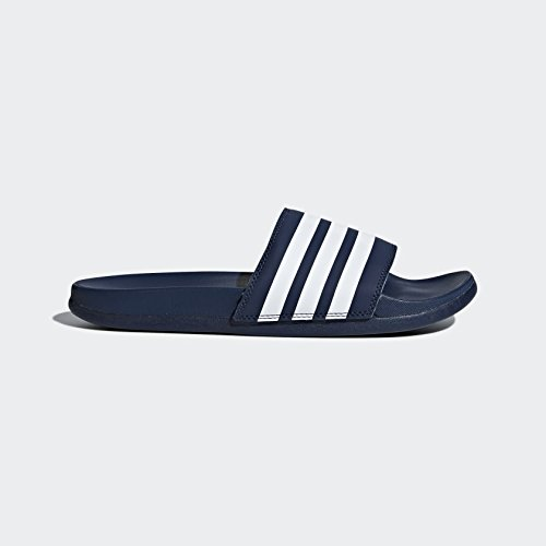 adidas Women's Adilette CF+ Stripes W Famous Slide Sandal, Collegiate Navy/White/Collegiate Navy, 6 M US by adidas