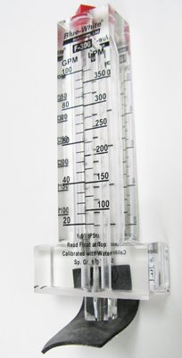 Blue-White Flowmeter for 1-1/2