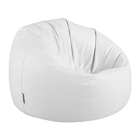 Genial Bean Bag Bazaar Luxury Faux Leather Panelled XL Bean Bag Chair   Extra  Large Bean Bags (White): Amazon.co.uk: Kitchen U0026 Home