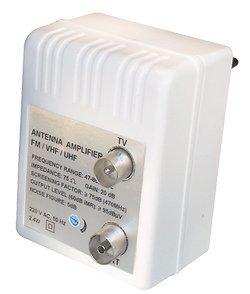 47-862 MHzVerst/ärkung: 20 dB regelbar: 0-10 dB Koaxbuchse auf F-Buchse 1x SAT Winkeladapter + 1x SAT Winkeladapter 1x Antennenverst/ärker 75 Ohm Koaxstecker auf F-Buchse 75 Ohm
