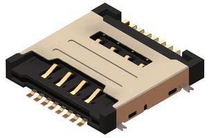 16POS GLOBAL CONNECTOR TECHNOLOGY SIM6050-8-0-30-00-A MEMORY SOCKET DUAL SIM CARD