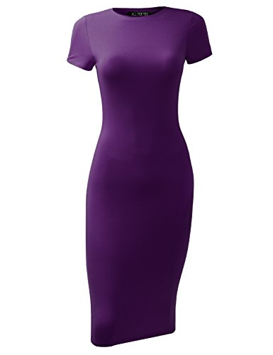 all-for-you-womens-slim-fit-sandwich-dress-purple-large