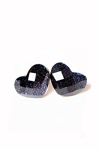 - Blue Star Love Retro Earrings Earring Dangler Eardrop Gravel (Platinum Bottom