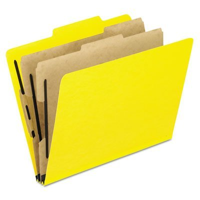 (Pressguard Classification Folders, Letter, Six-Section, Yellow, 10/Box, Sold as 10 Each)