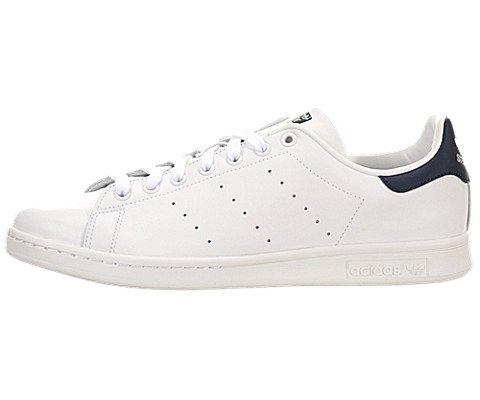 adidas Men's Originals Stan Smith Sneaker, White/White/Dark Blue, 8 M US ()