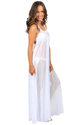Ingear Tent Maxi Dress (Small/Medium, White)