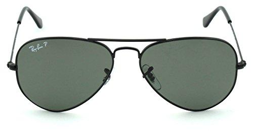 Ban RB3025 Polarized 58 Ray Sunglasses 002 Aviator Polarized Lens Green Black 62 Unisex Frame dAwqaq5