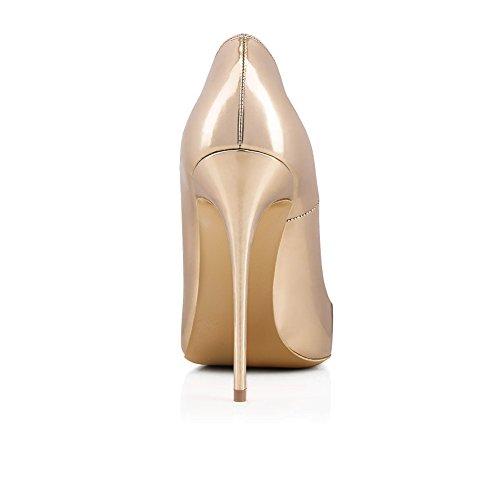 Xue Femmes Chaussures PU Printemps/Été Chaussures Pointues Talons National Style Talon Stiletto Mariage/Soirée/Soirée/Robe Formelle Business Work (Couleur : E, Taille : 46) C