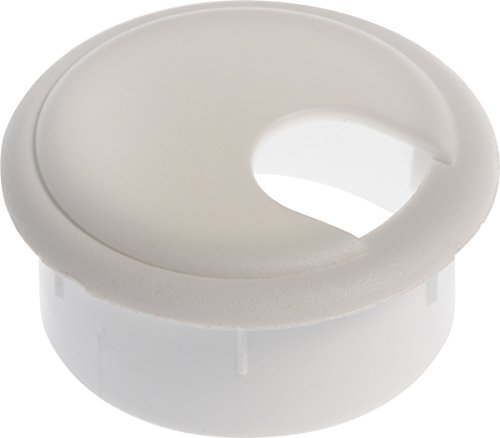 The Hillman Group 59331 1-3/4-Inch White Grommet with Cap, 2-Pack